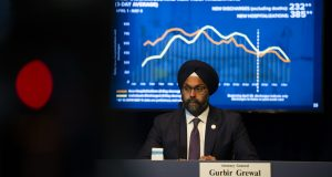 Attorney General Gurbir Grewal during a daily COVID-19 press briefing in Trenton on May 5, 2020. - JOSEPH LAMBERTI, COURIER POST