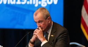 Gov. Phil Murphy at his daily COVID-19 press briefing in Trenton on May 13, 2020.