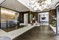 The renovated lobby at BLVD Collection in Jersey City. - PHOTOS: MACK CALI