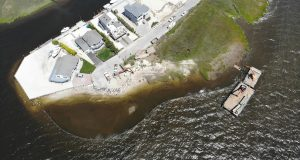 Iowa Court construction to repair damages from Superstorm Sandy.