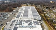 Driscoll Foods in Wayne, which features solar panels installed by Solar Landscape.