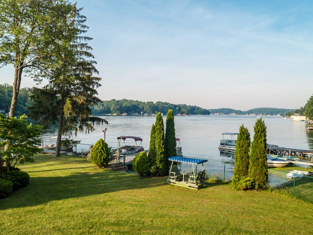 A Scenic view of Lake Hopatcong in Sussex County New Jersey.