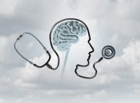 Mental health contept and brain disorder awareness as a healthcare or health care concept with 3D illustration elements.