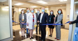 Morristown Medical Center radial lounge ribbon cutting held July 29, 2020.