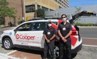 EMS physician Dr. Aman Shah and EMS Fellow Dr. Alexander Kuc are part of the team that will use the new Subaru-donated vehicle to support Cooper Health EMS crews in the community.
