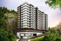 Rendering for Solaia at 8701 Churchill Road, Pallisades Cliffs.