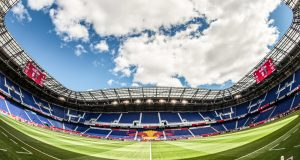 Red Bull Arena of New York Red Bulls during an MLS regular season game against the San Jose Earthquakes at Red Bull Arena in Harrison, NJ on March 16, 2019.
