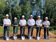 Evergreen Theragnostics Wednesday broke ground on its new manufacturing facility in Springfield on Sept. 23, 2020. - EVERGREEN THERAGNOSTICS INC.
