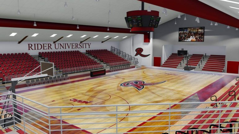 Rendering for the proposed Alumni Gym at Rider University.