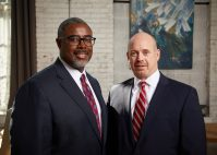 Florio Perrucci Partner, Education Law Practice Chair Lester Taylor and Managing Partner Brian Tipton.