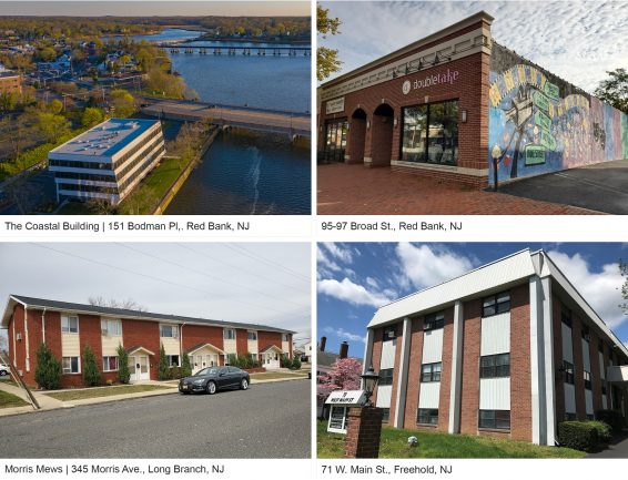 Kislak Co. Inc. properties in Red Bank, Freehold and West Long Branch.