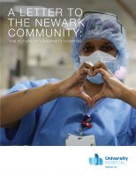 University Hospital Letter to the Community featuring the hospital's new logo.