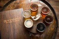 Descendants' beers give a nod to the owners' German, Belgian, and British roots.