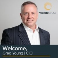 Vision Solar appointed Greg Young as its Chief Information Officer March 17, 2021.