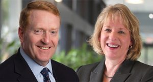 David Daly, left, will retire from PSE&G with Kim Hanemann, right, named to succeed him as president and COO, effective June 30, 2021. - PSE&G
