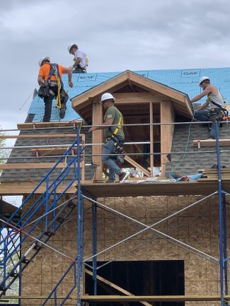 GAF Roofing Academy students take part in the program in February of 2020. Note: This photo was taken prior to the COVID-19 lockdown. GAF currently requires masks and social distancing in all of its classes.