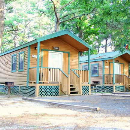 Deluxe cabins at Sea Pirate Campground in West Creek.