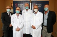 From left, Summit Health Regional Chief Medical Officer Dr. Jack Cappitelli, Dr. Michael Fuhrman, Dr. Michael Kerner, Dr. Marvin Lipsky and Dr. Tamir Ben-Menachem. On May 25, 2021, it was announced gastroenterologists Associates in Digestive Diseases would join Summit Health.