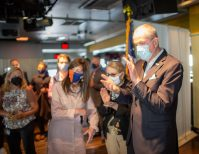Gov. Phil Murphy, First Lady Tammy Murphy and Health Commissioner Judy Persichilli visit Belmar and conduct a vaccine site visit at D'Jais Bar & Grill on June 4, 2021