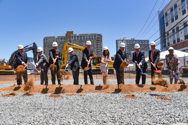 Gov. Phil Murphy participates in a groundbreaking ceremony for the Rutgers Cancer Institute of New Jersey in New Brunswick on June 24, 2021.