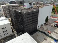 The Eldredge Building, which has stood in Atlantic City for nearly a century, is being demolished to construct a 135,000-square-foot, six-story, 416-bed apartment-style residence hall for Stockton University students.