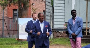 """East Orange Mayor Ted Green at the groundbreaking for """"14 Summit"""" on June 15, 2021. - BLUE ONYX"""