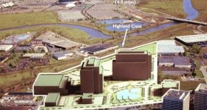 Highland Cross is a 360,000-square-foot industrial warehouse in Rutherford, in the Meadowlands.