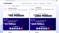 Screen shot of Lotto.com, the second licensed lottery courier in the country, based in Jersey City.