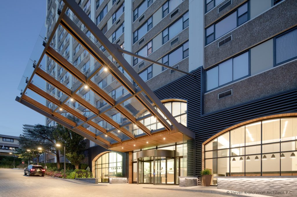 Steven Kratchman Architect designed the upgrades of the Apogee co-op in Cliffside Park, to bring it to contemporary resident standards. - STEVEN KRATCHMAN ARCHITECT P.C.