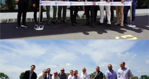 Executives from Denholtz Properties were joined by Borough of Tinton Falls officials to celebrate milestones on June 9, 2021, for two development projects that will deliver more than 50,000 square feet of Class-A flex/industrial space to Monmouth County at 150 Tornillo Way and 151 Tornillo Way in Tinton Falls.