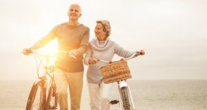 Older could rides into golden years on bicycles