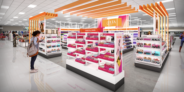 Ulta Beauty is debuting four shop-in-shops in Garden State Target stores in August 2021.