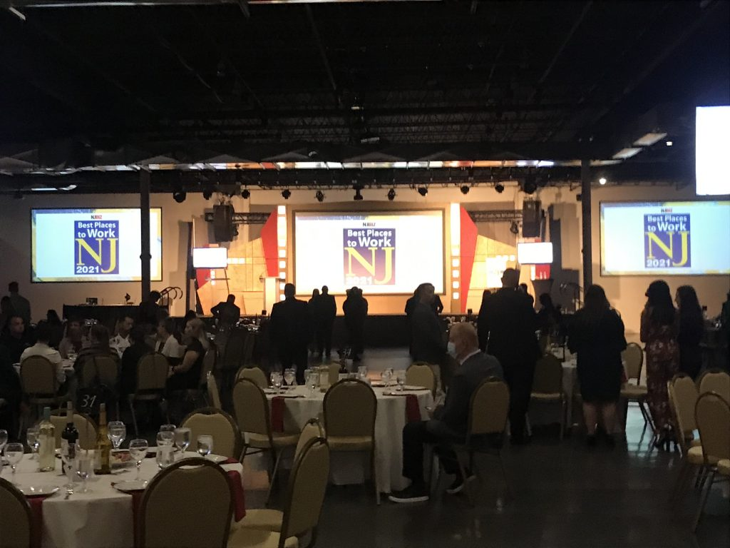 NJBIZ celebrates the 2021 Best Places to Work NJ Awards at The Event Center at iPlay in Freehold on Sept. 9, 2021.