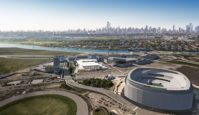 An artist's rendering of the Meadowlands Sports Complex