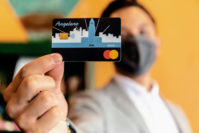 The Angeleno Connect Bank Account Debit Mastercard is pictured. The Angeleno Connect Bank Account launched on Sept. 8, 2021, from MoCafI with Los Angeles Mayor Eric Garcetti and the City of LA.
